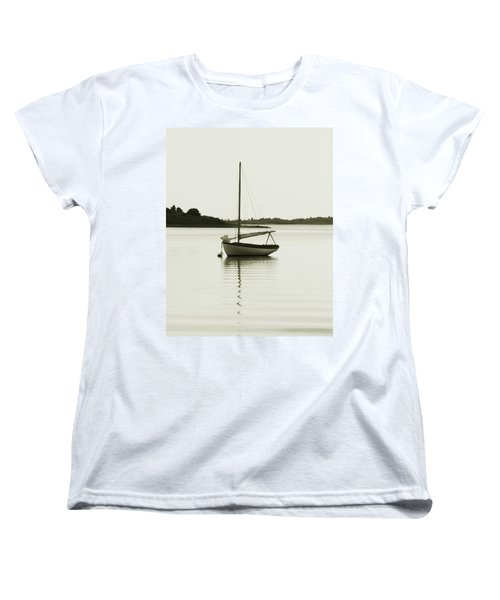 Sloop At Rest  Women's T-Shirt (Standard Cut) by Roupen  Baker