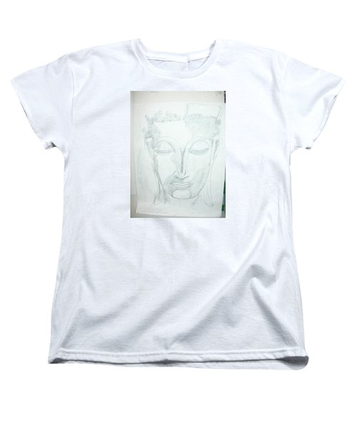 Women's T-Shirt (Standard Cut) featuring the drawing Slumbering Buddha by Sharyn Winters