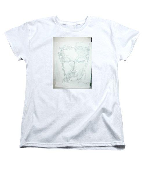 Slumbering Buddha Women's T-Shirt (Standard Cut) by Sharyn Winters