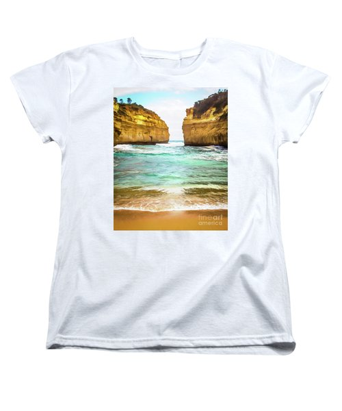 Women's T-Shirt (Standard Cut) featuring the photograph Small Bay by Perry Webster