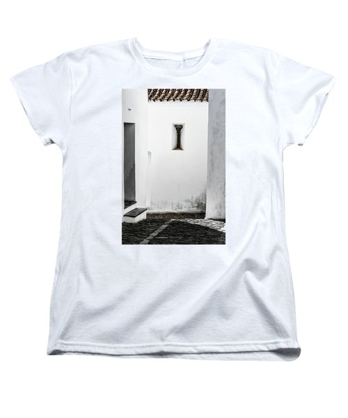 Women's T-Shirt (Standard Cut) featuring the photograph Small Window In White Wall by Edgar Laureano