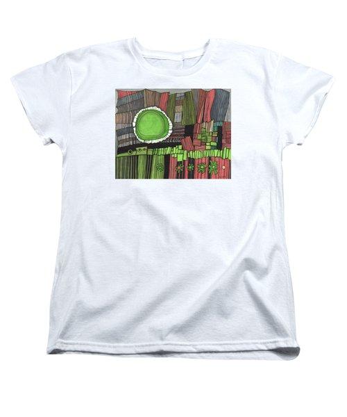 Sun Gone Green Women's T-Shirt (Standard Cut) by Sandra Church