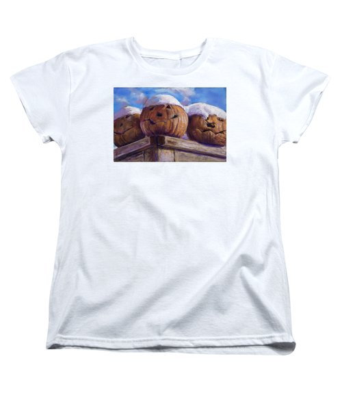 Women's T-Shirt (Standard Cut) featuring the pastel Smilin Jacks by Billie Colson