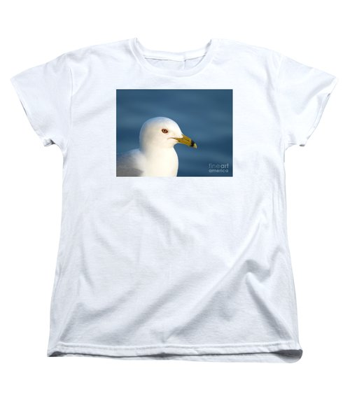Smiling Seagull Women's T-Shirt (Standard Cut) by Susan Dimitrakopoulos
