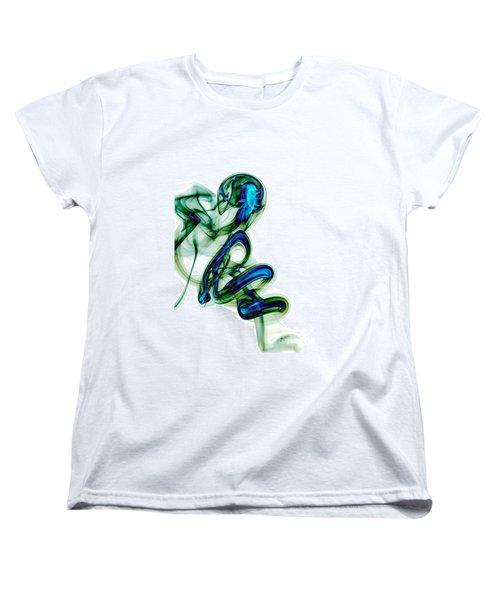 Women's T-Shirt (Standard Cut) featuring the photograph smoke XL by Joerg Lingnau