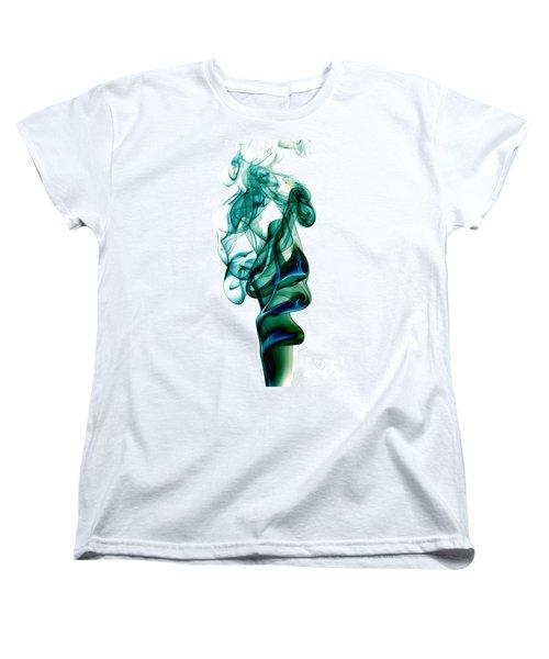 Women's T-Shirt (Standard Cut) featuring the photograph smoke XXIII by Joerg Lingnau
