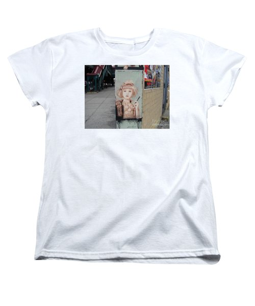 Women's T-Shirt (Standard Cut) featuring the photograph Smoking Girl  by Cole Thompson