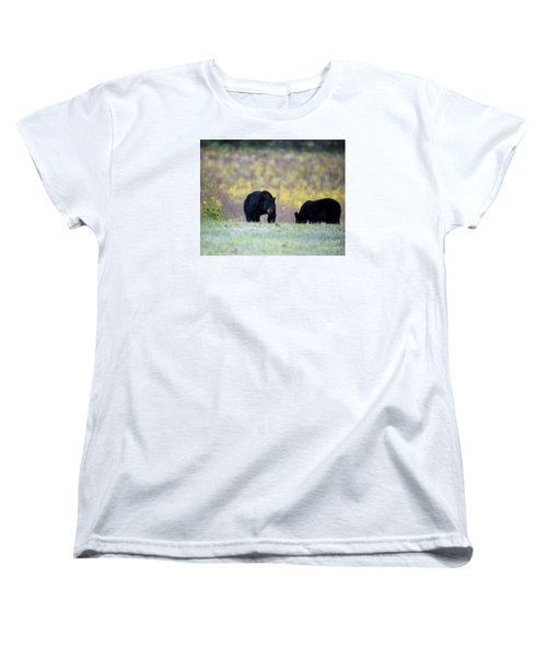 Smoky Mountain Black Bears Women's T-Shirt (Standard Cut) by Nature Scapes Fine Art