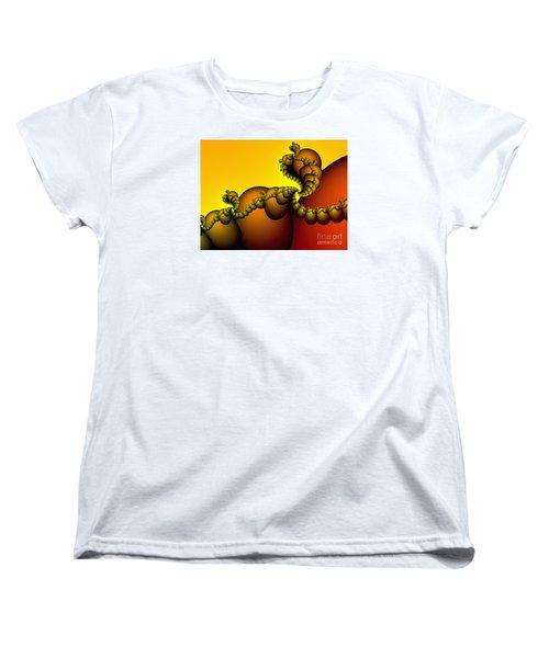 Women's T-Shirt (Standard Cut) featuring the digital art Snails Convoy by Karin Kuhlmann