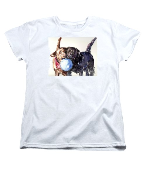 Women's T-Shirt (Standard Cut) featuring the painting Snow Ball by Molly Poole