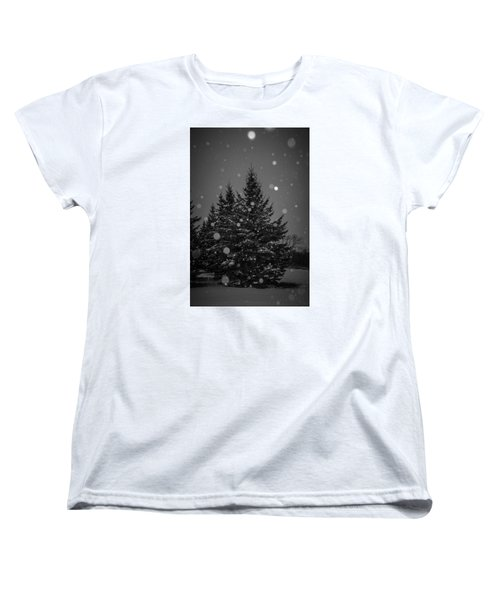 Women's T-Shirt (Standard Cut) featuring the photograph Snow Flakes by Annette Berglund