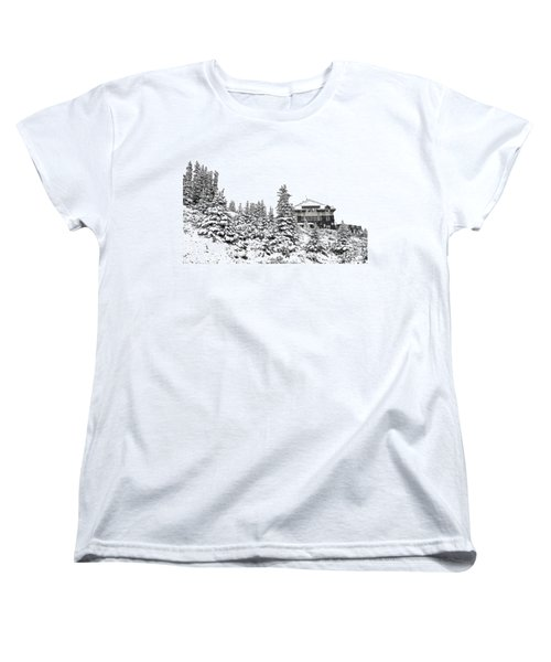 Women's T-Shirt (Standard Cut) featuring the photograph Snow In July 2 by Teresa Zieba
