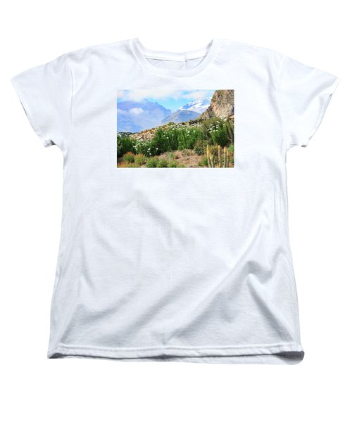 Women's T-Shirt (Standard Cut) featuring the photograph Snow In The Desert by David Chandler