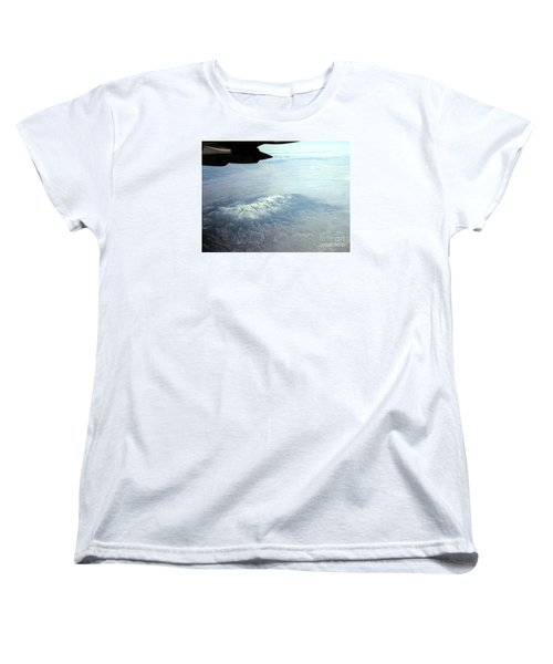 Snow On The Mountains Flying To Alaska Women's T-Shirt (Standard Cut) by Merton Allen