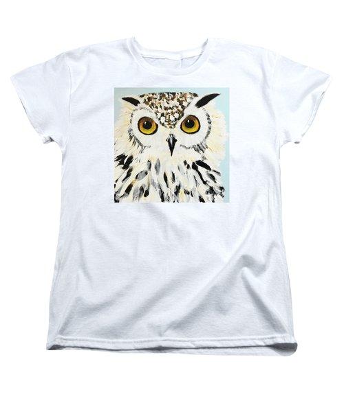 Snow Owl Women's T-Shirt (Standard Cut) by Donald J Ryker III