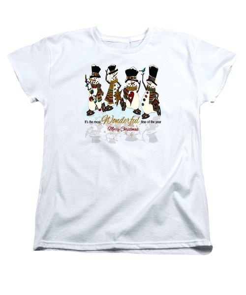 Snow Play Women's T-Shirt (Standard Cut) by Tami Dalton