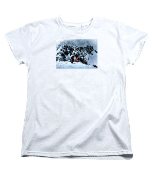 Women's T-Shirt (Standard Cut) featuring the photograph Snowbird by Jim Hill