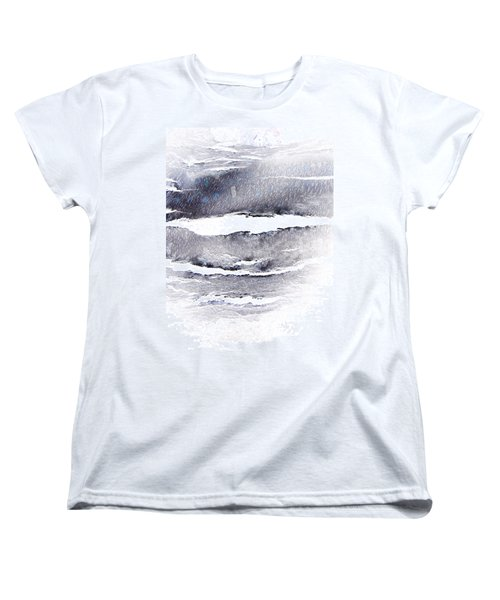 Women's T-Shirt (Standard Cut) featuring the photograph Snowstorm In The High Country by Lenore Senior