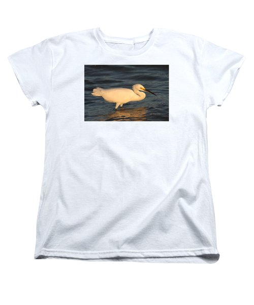 Snowy Egret By Sunset Women's T-Shirt (Standard Cut) by Christiane Schulze Art And Photography
