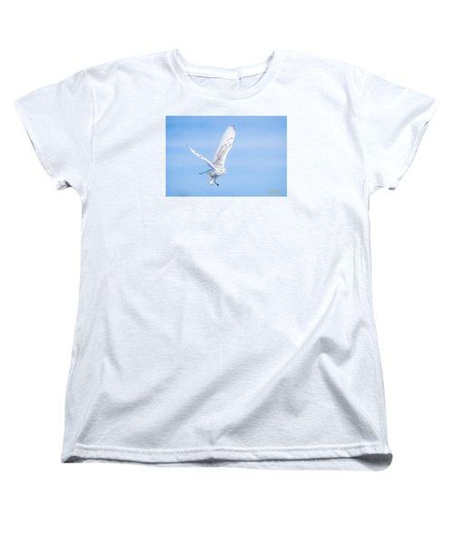 Snowy Owls Soaring Women's T-Shirt (Standard Cut)