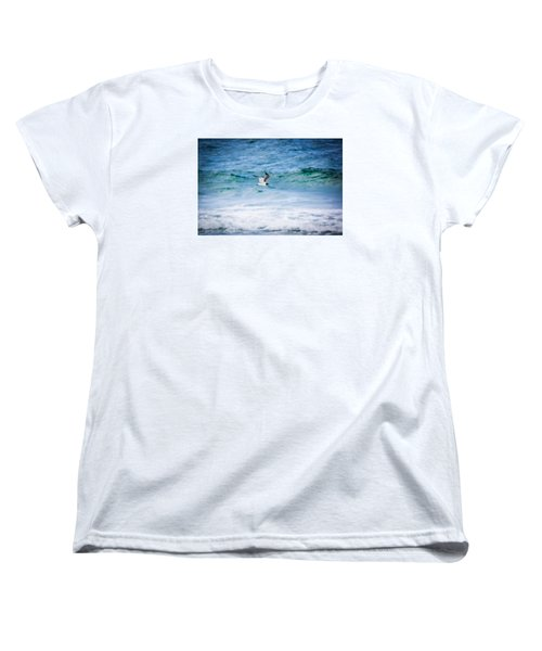 Soaring Over The Ocean Women's T-Shirt (Standard Cut) by Shelby Young