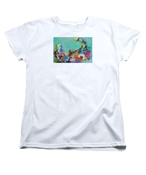 Women's T-Shirt (Standard Cut) featuring the painting Soft And Hard Corals by Lyn Olsen