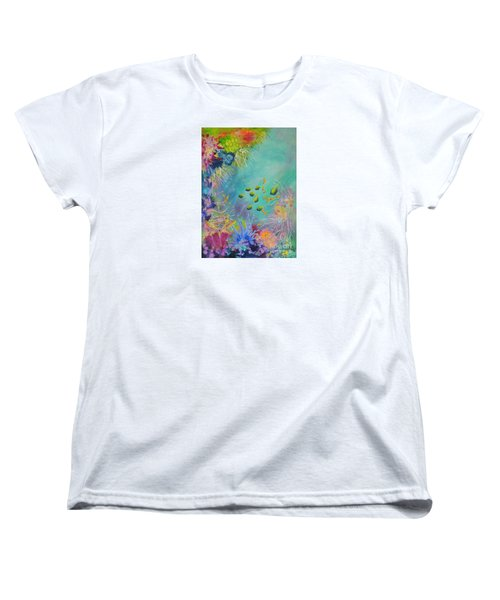 Women's T-Shirt (Standard Cut) featuring the painting Soft And Hard Reef Corals by Lyn Olsen
