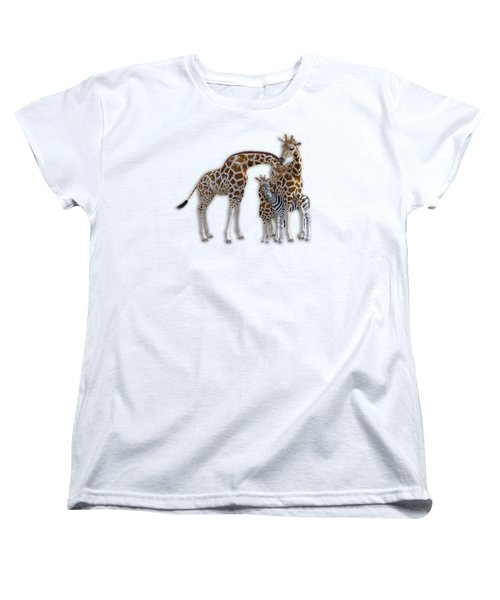 Sometimes You Have To Find The Right Spot To Fit In Women's T-Shirt (Standard Cut) by Betsy Knapp