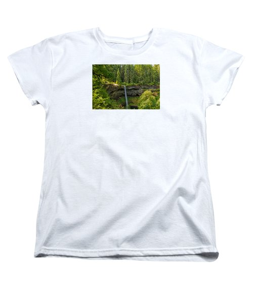 Women's T-Shirt (Standard Cut) featuring the photograph South Falls 0417 by Tom Kelly