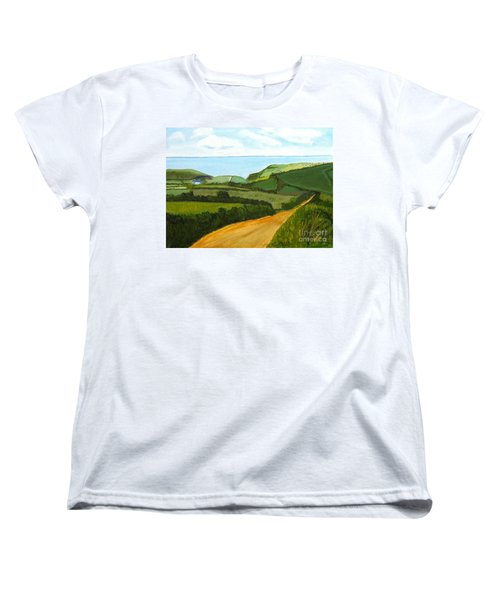 South West England Countryside Cotswold Area Women's T-Shirt (Standard Cut) by Rod Jellison