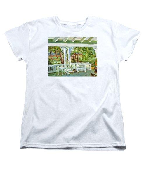 Southern Porches Women's T-Shirt (Standard Cut) by Margaret Harmon
