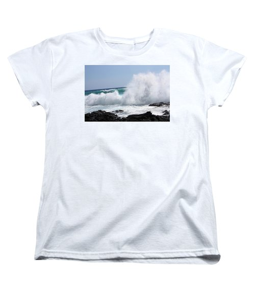 Sp-lash Women's T-Shirt (Standard Cut) by Karen Nicholson