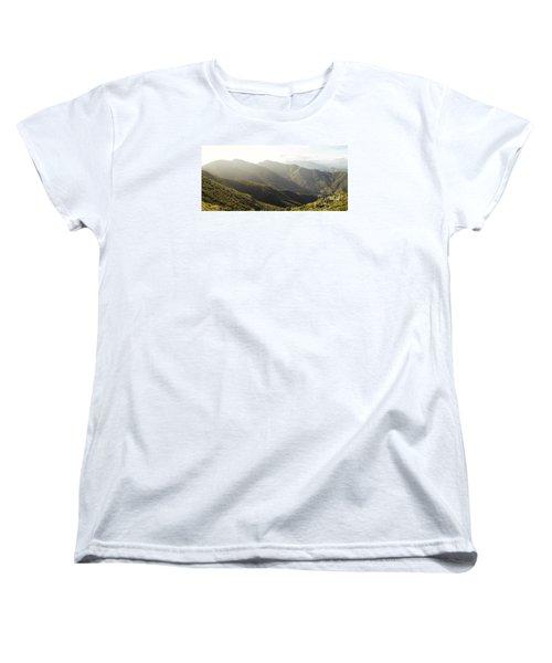 spanish mountain range, Malaga, Andalusia, Women's T-Shirt (Standard Cut) by Perry Van Munster