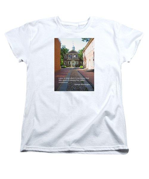Spark Of Celestial Fire Women's T-Shirt (Standard Cut) by Deborah Dendler