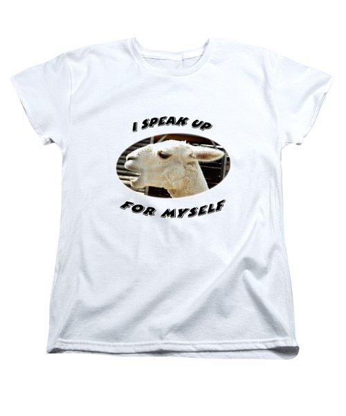 Speak Up Women's T-Shirt (Standard Cut) by Judi Saunders
