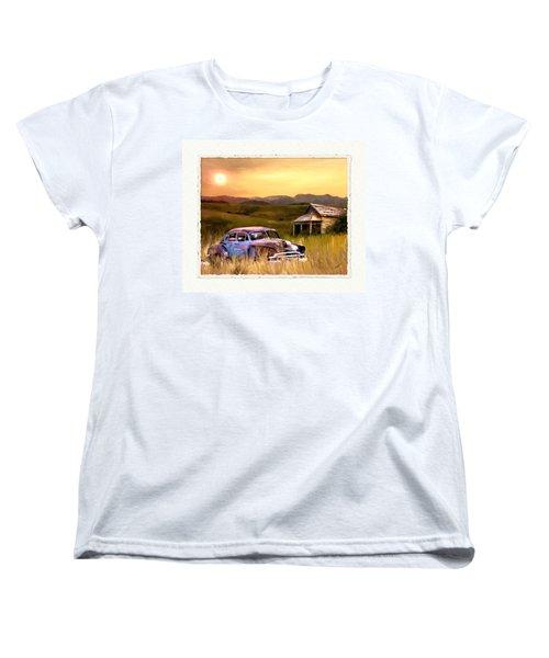 Spent Women's T-Shirt (Standard Cut) by Susan Kinney