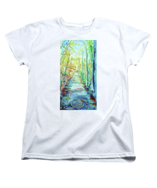 Women's T-Shirt (Standard Cut) featuring the painting Spirale - Spiral by Koro Arandia