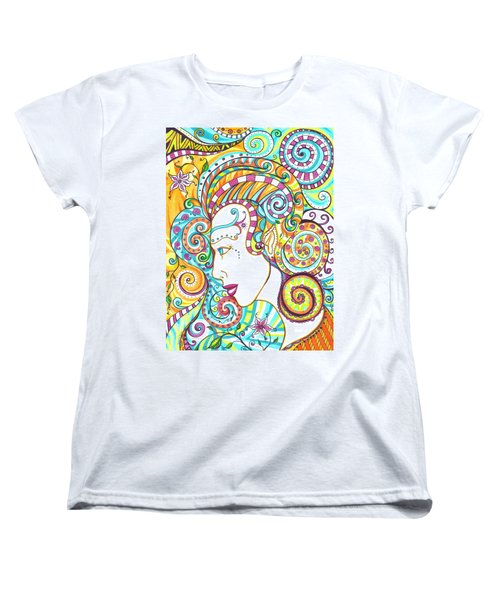 Women's T-Shirt (Standard Cut) featuring the drawing Spiraled Out Of Control by Shawna Rowe