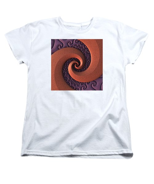 Women's T-Shirt (Standard Cut) featuring the digital art Spiralicious by Lyle Hatch