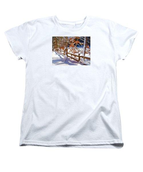 Split Rails Women's T-Shirt (Standard Cut) by Betsy Zimmerli