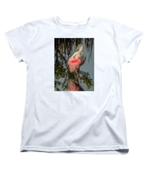 Spoonbill Resting Women's T-Shirt (Standard Cut) by Dorothy Cunningham