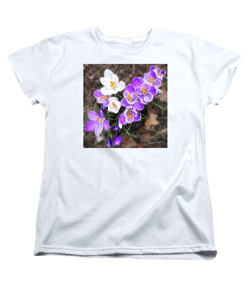 Spring Beauties Women's T-Shirt (Standard Cut) by Terri Harper