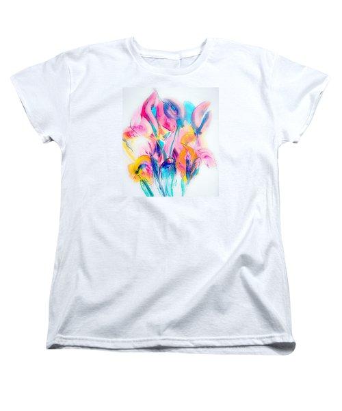 Spring Floral Abstract Women's T-Shirt (Standard Cut) by Lisa Kaiser