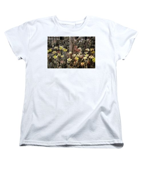 Women's T-Shirt (Standard Cut) featuring the photograph Spring Flowers by Joann Vitali