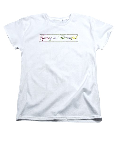 Spring Is Beautiful Panorama Women's T-Shirt (Standard Cut) by Denise Beverly