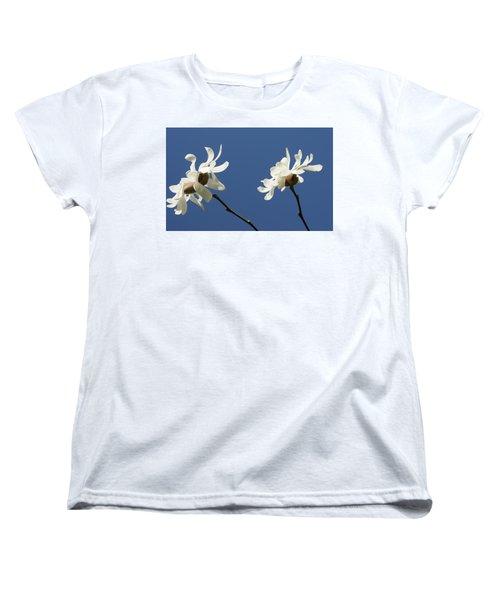 Spring Magnolias Women's T-Shirt (Standard Cut) by Haleh Mahbod