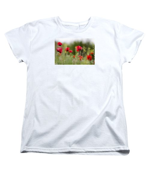 Spring Poppies  Women's T-Shirt (Standard Cut) by Perry Van Munster