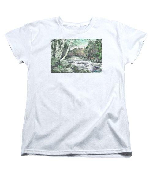 Spring Runoff Women's T-Shirt (Standard Cut) by John Selmer Sr