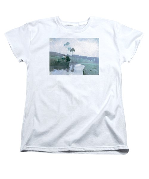 Women's T-Shirt (Standard Cut) featuring the painting Springtime by John Henry Twachtman