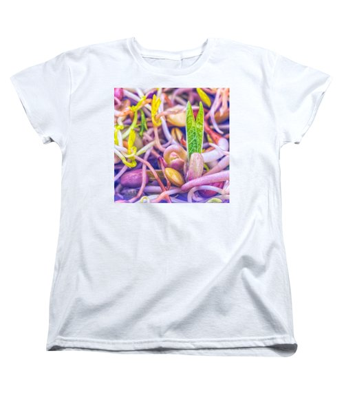Women's T-Shirt (Standard Cut) featuring the photograph Sprouts Are Magic by TC Morgan